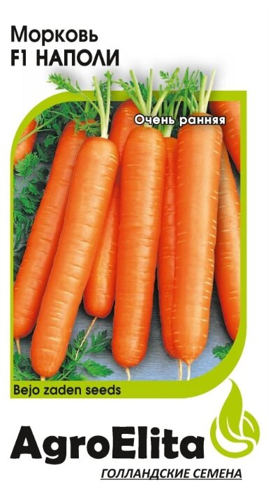 Семена Гавриш AgroElita Морковь Наполи F1 0,3 г
