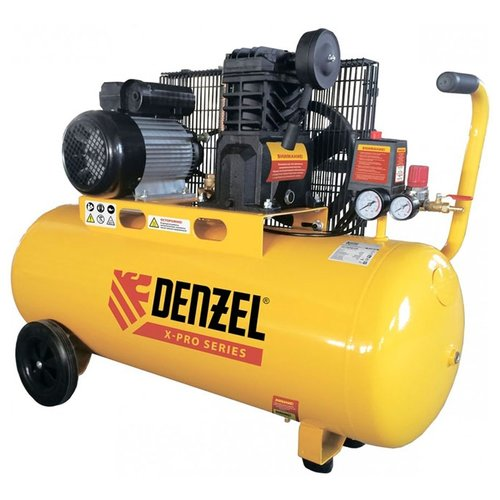 цены Компрессор масляный Denzel PC 2/100-400 Х-PRO, 100 л, 2.3 кВт