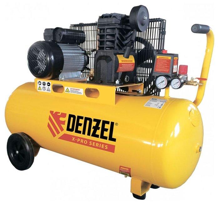 Компрессор масляный Denzel PC 2/100-400 Х-PRO, 100 л, 2.3 кВт