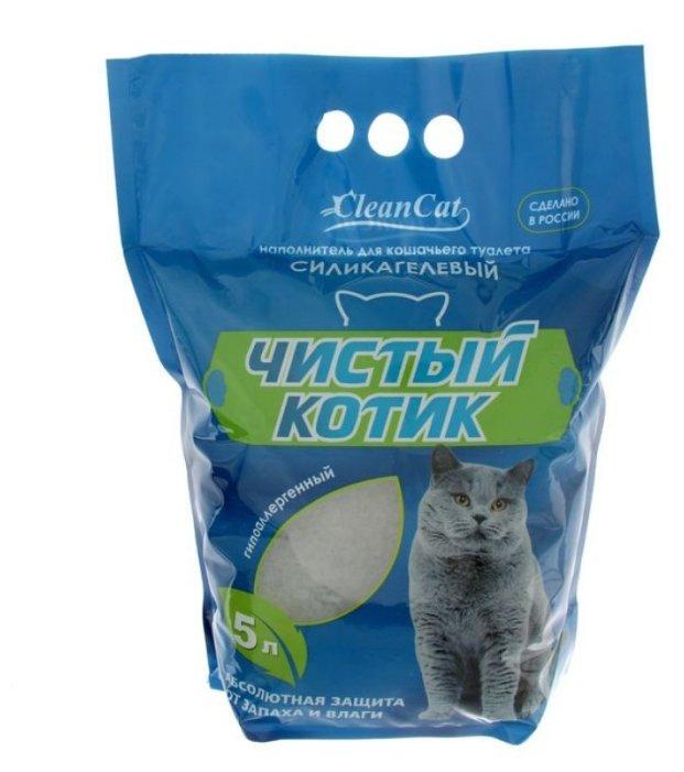 Впитывающий наполнитель Чистый котик Силикагелевый (5 л)