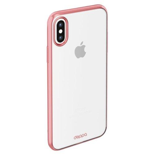 Фото - Чехол-накладка Deppa Gel Plus Case (матовый) для Apple iPhone X/Xs розовое золото чехол deppa air case для apple iphone x xs золотой 83322