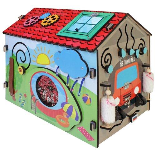 Бизиборд Мастер игрушек Чудо-дом красный/бежевый/серый