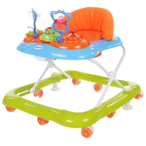 Ходунки Baby Care Mario оранжевый/зеленый/голубой ходунки baby care mario белый синий
