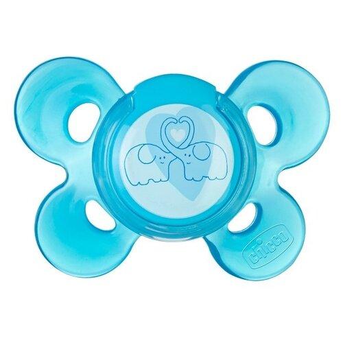 Пустышка силиконовая ортодонтическая Chicco Physio Comfort 6-12 м (1 шт) голубой