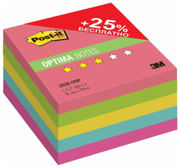 Post-it Блок-кубик Optima, 76х76 мм, 500 штук (2028)
