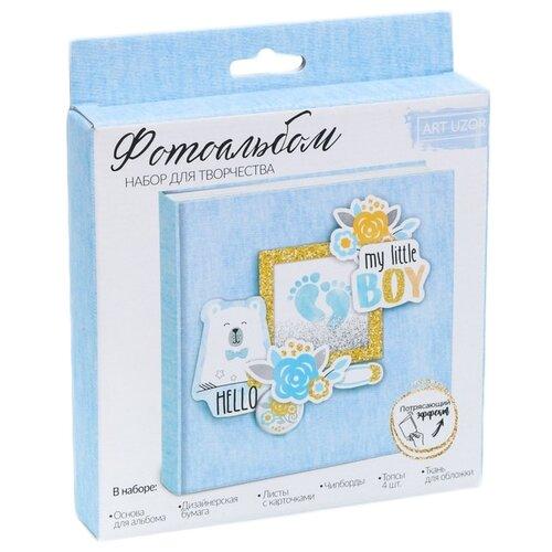 Альбом Арт Узор 15.5x15.5 см, My little boy голубой/желтый, Бумага и наборы  - купить со скидкой