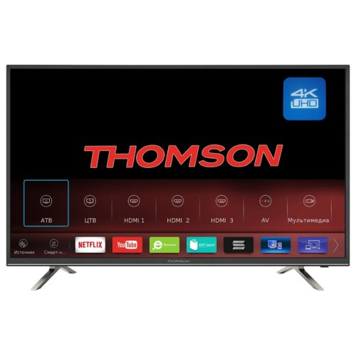 Телевизор Thomson T43USM5200 42.5 (2018) черный/серебристый телевизор thomson t32rtl5140 черный