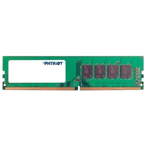 Оперативная память Patriot Memory SL DDR4 2400 (PC 19200) DIMM 288 pin, 4 GB 1 шт. 1.2 В, CL 17, PSD44G240081 оперативная память patriot memory viper elite ddr4 2400 pc 19200 dimm 288 pin 16 gb 1 шт 1 2 в cl 16 pve416g240c6gy