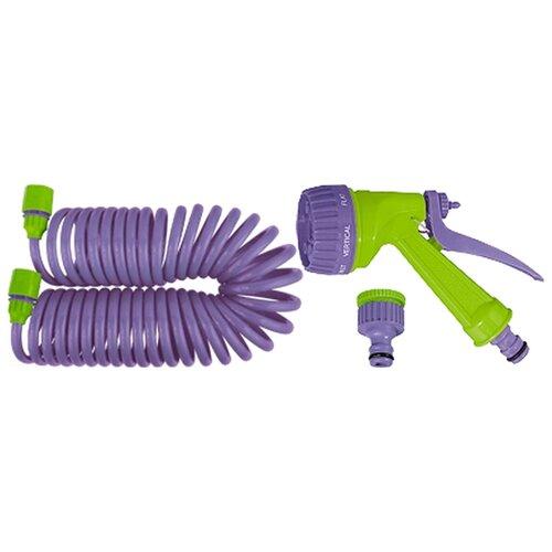"""Комплект для полива PALISAD спиральный 1/2"""" 7.5 метра фиолетовый"""