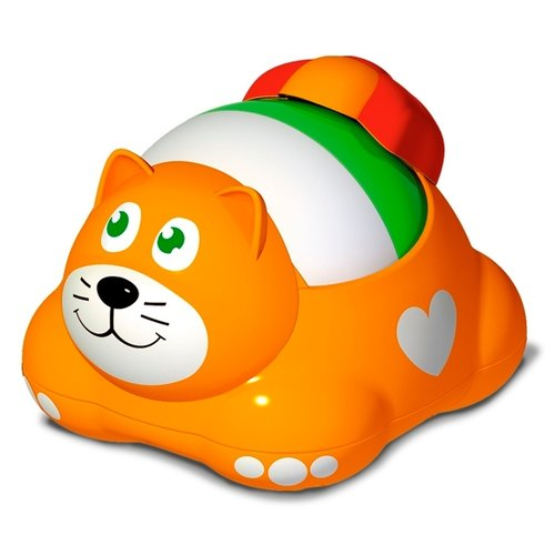 Каталка-игрушка Stellar Котошарик (01926) оранжевый