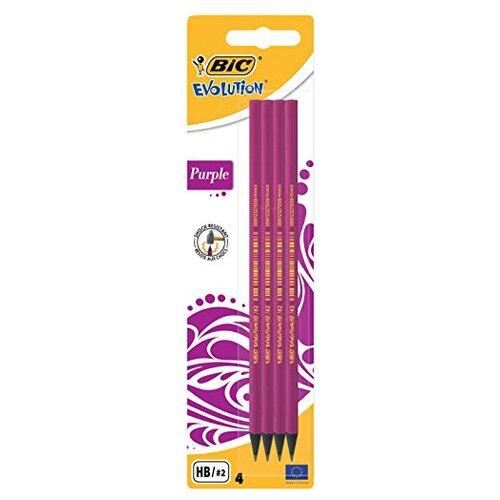 BIC Набор чернографитных карандашей Evolution 4 шт (901736)Карандаши<br>