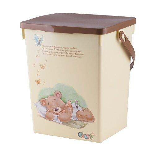 Контейнер для подгузников Polly ПОЛИМЕРБЫТ бежевый контейнер для детской аптечки полимербыт polly с вкладышем 6 5 л