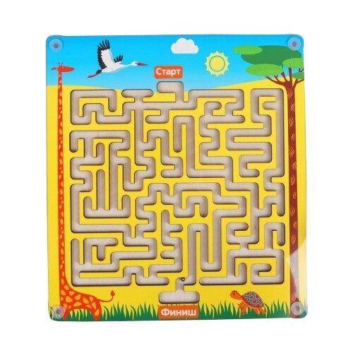 Головоломка Мастер игрушек Лабиринт с шариком Африка (IG0195) желтый/голубойГоловоломки<br>