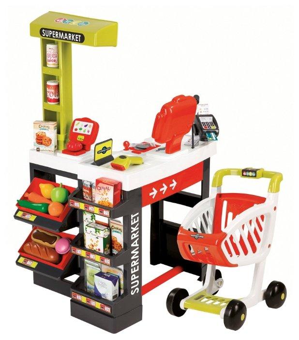Магазин Smoby Supermarket с весами и сканером (350210)