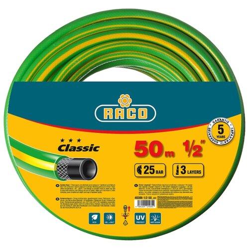 Фото - Шланг RACO Classic 1/2 50 метров зеленый/желтый шланг raco expert 1 2x50m 40302 1 2 50