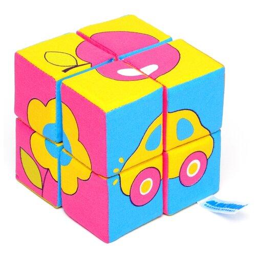 Купить Кубики-пазлы Мякиши Собери картинку Предметы, Детские кубики