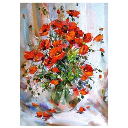 Купить Белоснежка Картина по номерам Букет маков 30х40 см (035-AS), Картины по номерам и контурам