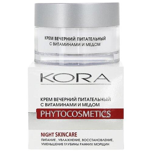 Kora Phytocosmetics Крем вечерний питательный с витаминами и медом для лица, 50 мл крем kora крем вечерний питательный с витаминами и медом объем 50 мл