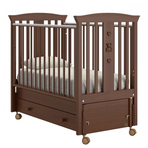 Купить Кроватка Nuovita Fasto (качалка), продольный маятник темный орех, Кроватки
