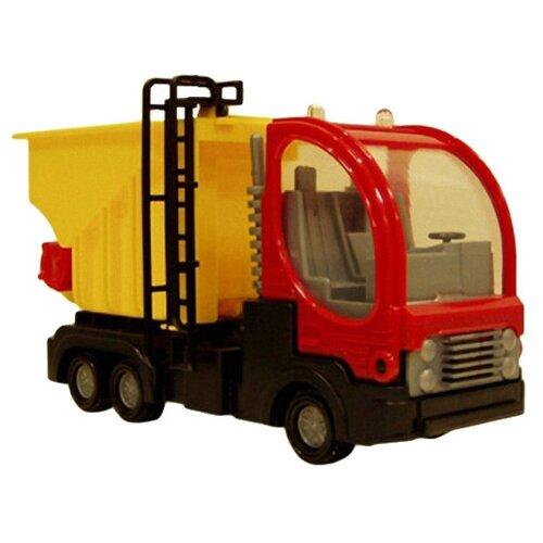 Купить Грузовик Форма Дальнобойщик (С-40-Ф) 19.5 см красный/желтый, Машинки и техника