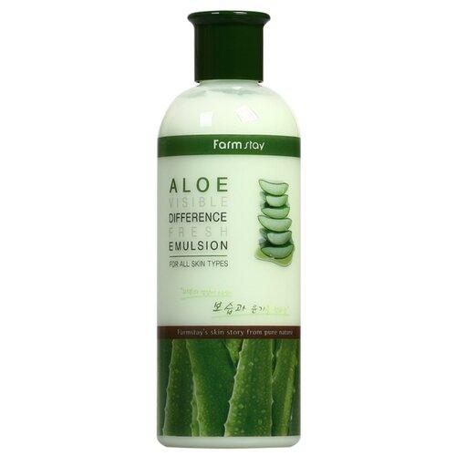 Фото - Farmstay Visible Difference Fresh Emulsion Aloe Увлажняющая эмульсия для лица с экстрактом алоэ, 350 мл эмульсия для лица с экстрактом меда hydro energy emulsion 240мл