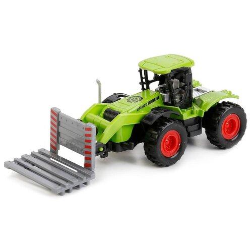 Купить Трактор ТЕХНОПАРК 77035-R 12 см зеленый/черный, Машинки и техника