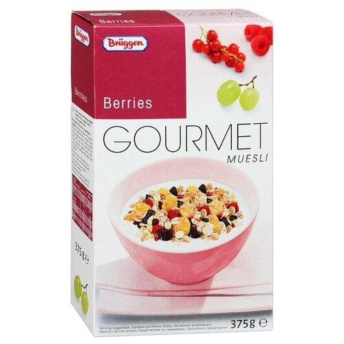 Мюсли Bruggen Gourmet хлопья с ягодами, коробка, 375 г