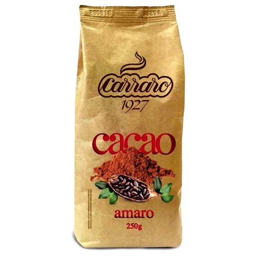 Carraro Bitter Cocoa Amaro Какао-напиток растворимый, 250 гКакао, горячий шоколад<br>