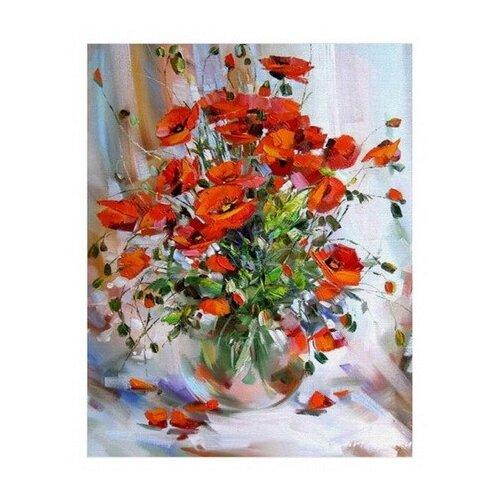 Купить Белоснежка Картина по номерам Букет маков 40х50 см (003-AB), Картины по номерам и контурам
