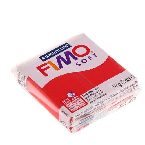 Купить Полимерная глина FIMO Soft запекаемая индийский красный (8020-24), 57 г, Глина