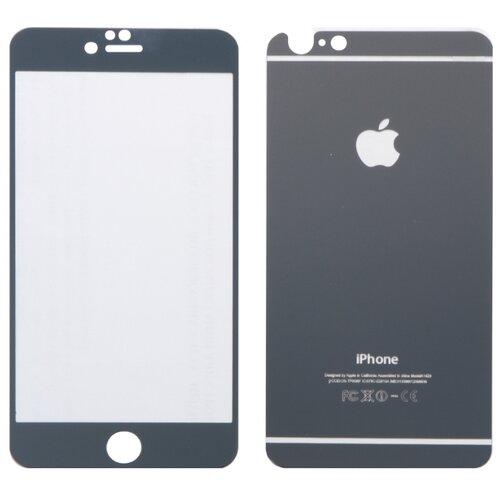 Защитное стекло CaseGuru зеркальное Front & Back для Apple iPhone 6/6S Logo silver защитное стекло caseguru для apple iphone 6 6s silver logo