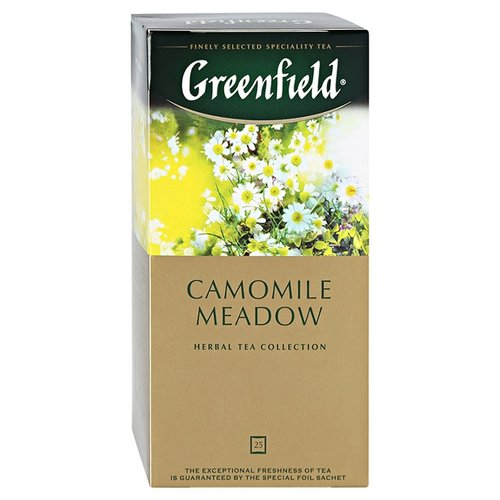 Чайный напиток травяной Greenfield Camomile Meadow в пакетиках , 25 шт. фото