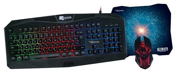 Клавиатура и мышь Qumo Respawn Black USB