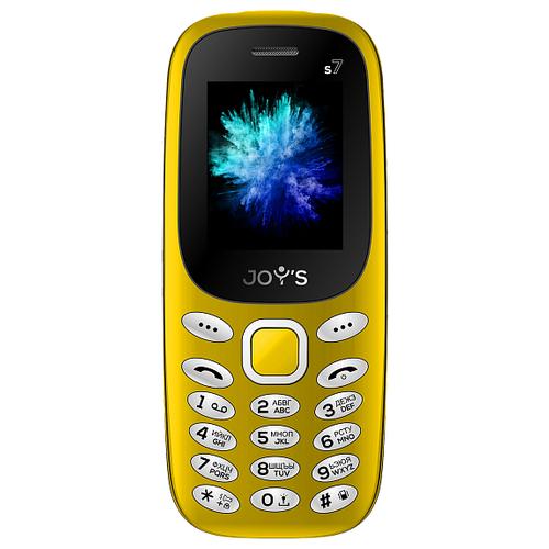 Телефон JOY'S S7 желтый телефон