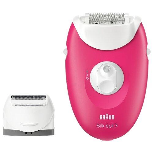 Эпилятор Braun 3410 Silk-epil 3 Legs & body розовый