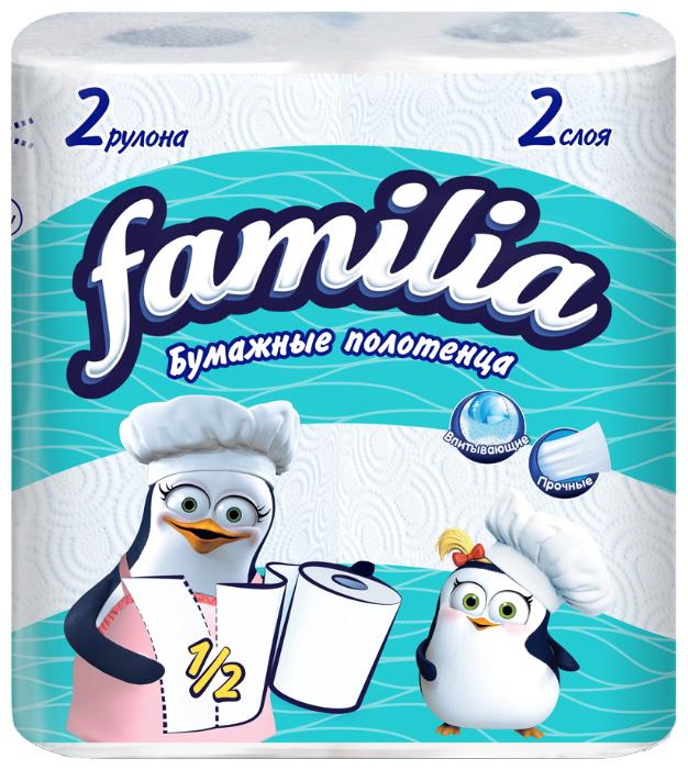 Полотенца бумажные FAMILIA 2 слоя 2 штуки