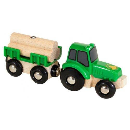 Купить Трактор Brio 33799 13.7 см зеленый, Машинки и техника
