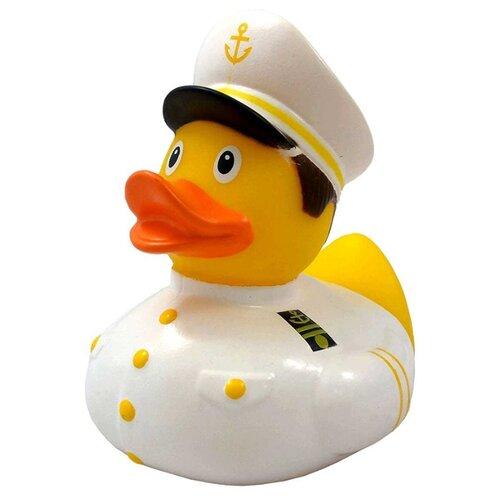 Купить Игрушка для ванной FUNNY DUCKS Капитан уточка (1989) желтый/белый, Игрушки для ванной