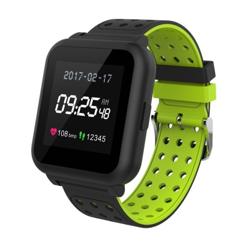 Умные часы KREZ Roze, черный/зеленый