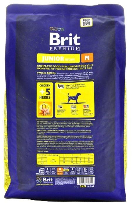 Корм для щенков Brit Premium курица (для средних пород)
