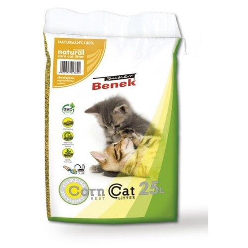Комкующийся наполнитель Super Benek Кукурузный 25 л комкующийся наполнитель super benek компакт натуральный 5 л