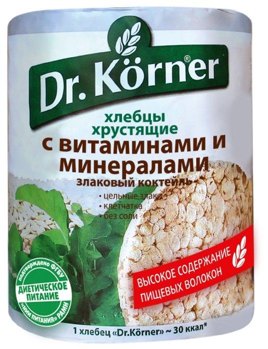 Хлебцы мультизлаковые Dr. Korner злаковый коктейль с витаминами и минералами 100 г