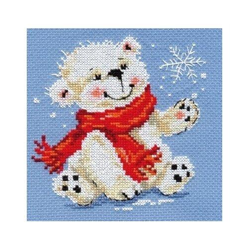 Алиса Набор для вышивания крестиком Белый медвежонок 12 x 13 см (0-053) алиса набор для вышивания басик летчик 10 x 12 см 0 189
