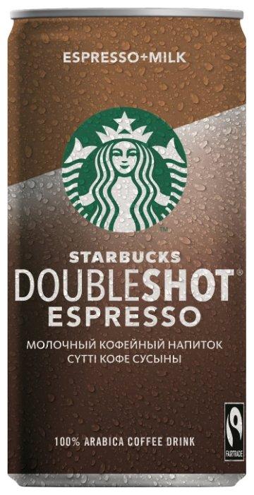 Молочный кофейный напиток Starbucks Doubleshot Espresso 0.2 л