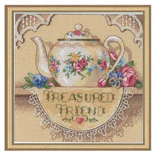 Купить Dimensions Набор для вышивания крестиком Treasured Friend Teapot (Чайник для дорогого друга) 15 х 15 см (6904), Наборы для вышивания