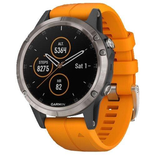 Часы Garmin Fenix 5 Plus Sapphire титановый оранжевый