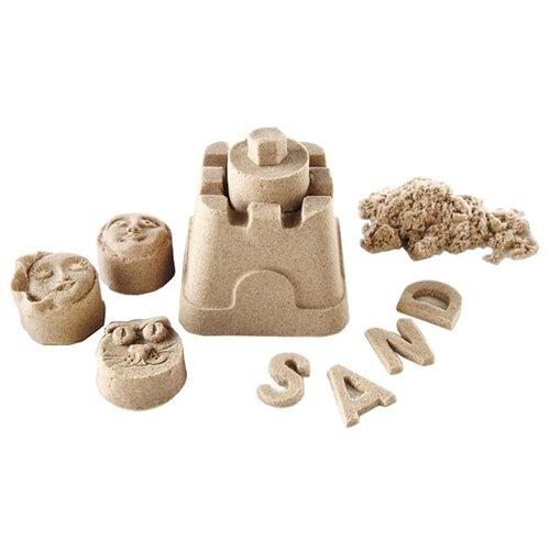 Кинетический песок ДобрБобр базовый бежевый 1 кг пластиковый контейнерКинетический песок<br>