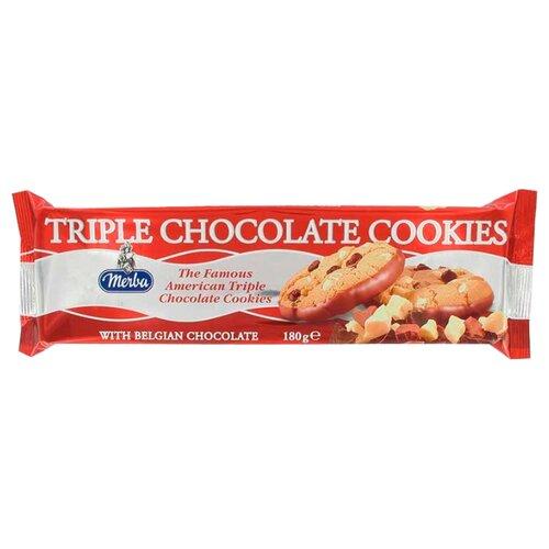 Печенье Merba Тройной шоколад, 180 г