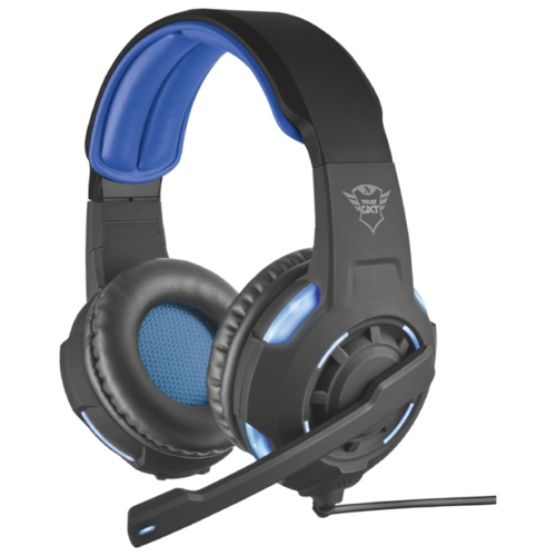 Компьютерная гарнитура Trust GXT 350 Radius 7.1 Surround Headset черный/синий компьютерная акустика trust