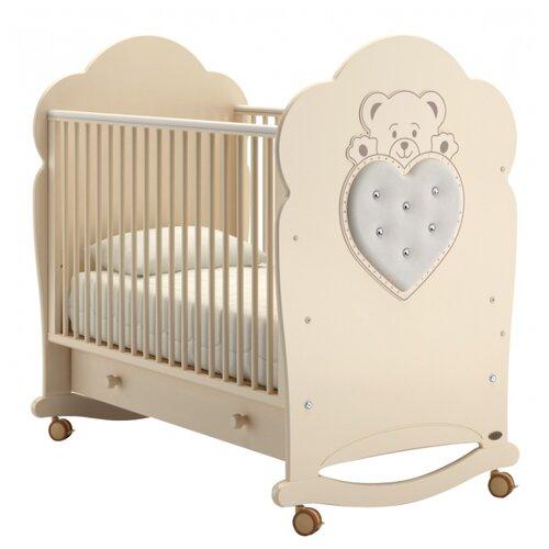 Кроватка Nuovita Fortuna (колесо) (качалка), на полозьях слоновая кость кроватка гандылян дашенька колесо качалка слоновая кость